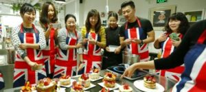 Chinese journalists taking part in an interactive cookery media workshop promoting Visit Leeds in China
