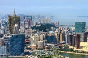 Skyline of Macau, venue of Chinese travel trade shows